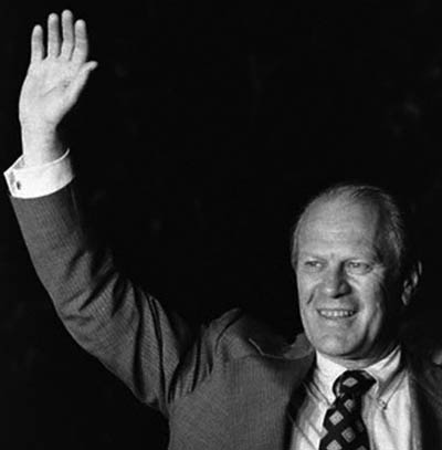 Gerald Ford Waving