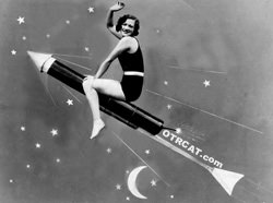 Joan on a rocket