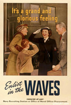 Bing Crosby performed for the Navy WAVES