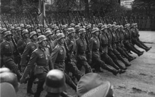 German troops in Warsaw
