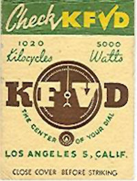 KFVD Matchbook