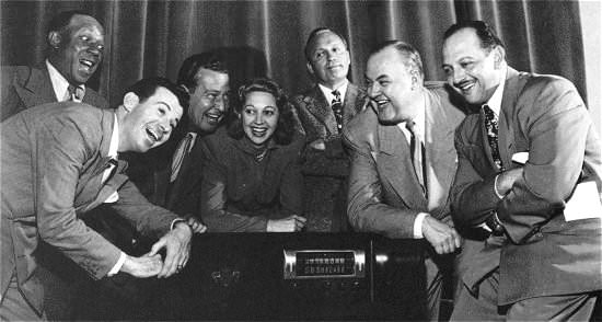 Jack Benny Cast Listening to Radio