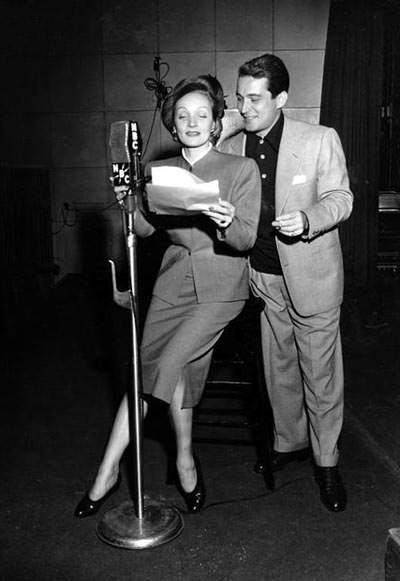Marlene Dietrich and Perry Como