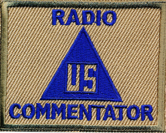 This patch was worn by radio commentators during World War II to identify them and the work they were doing.