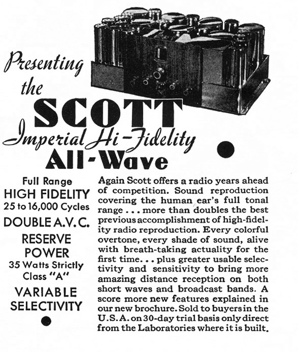 3.	A display ad circa 1935 for the Allwave-23 when it was still being referred to as the �Imperial.�
