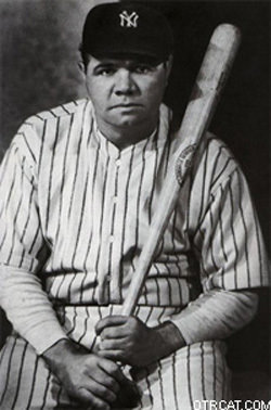Babe Ruth with bat