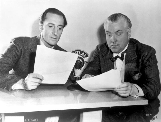 Basil Rathbone and Nigel Bruce on the radio