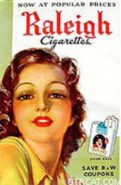 raleigh cigarettes ad, sponsor of Beat the Band