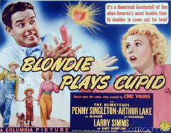 Blondie movie, lobby advertisement card