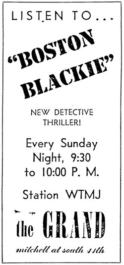 Boston Blackie Ad
