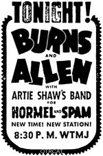 Burns & Allen Ad