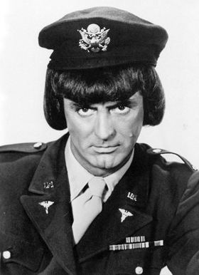 "Cary Grant as a pretty woman in ""I Was a Male War Bride"" (1940)"