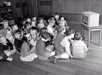 Children listening to the Radio