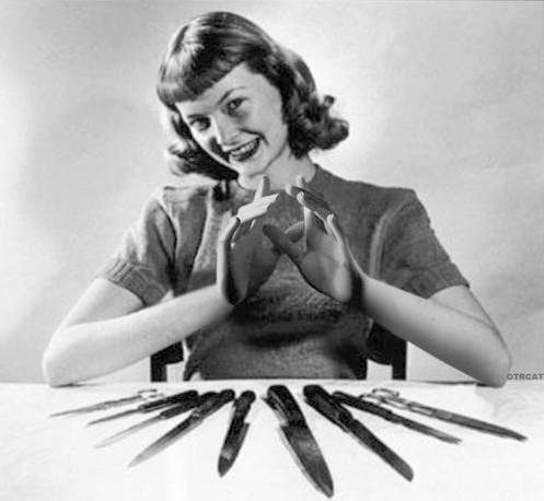 Crazy Woman with Knives