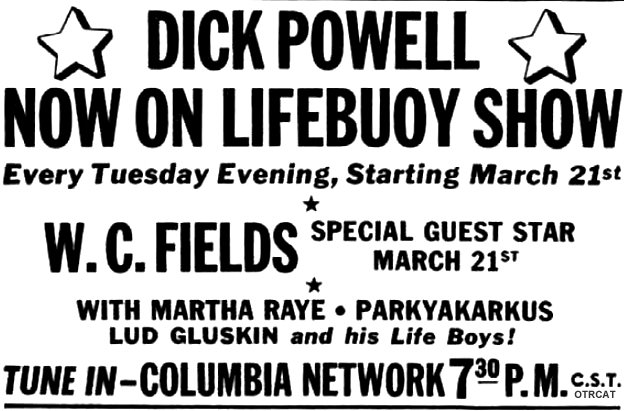 Dick Powell on Lifebuoy Show