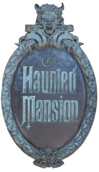Disney Haunted Mansion Sign