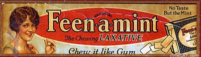 Feenamint the chewing gum laxative
