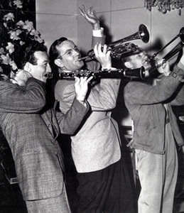 Harry James, Glenn Miller and Sammy Kaye publicity photo