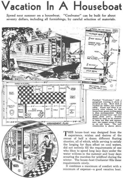 Houseboat Advertisement