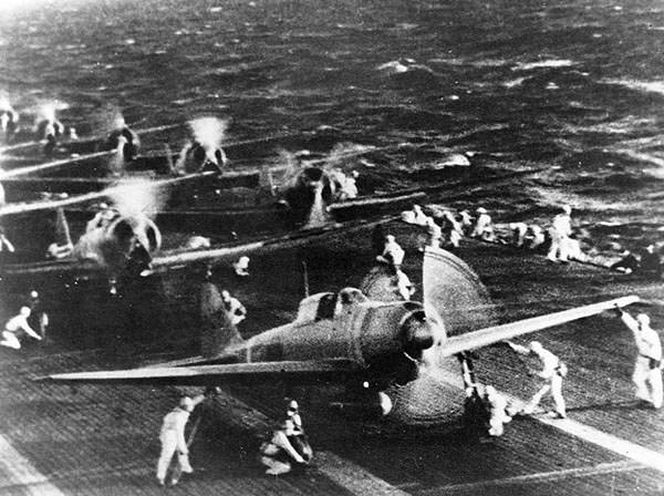 Japanese Planes on Carrier