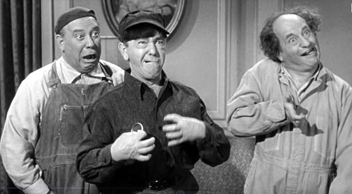 Joe Besser as one of the three stooges