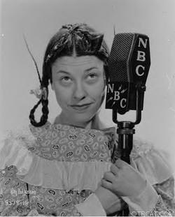 Judy Canova with Pigtails