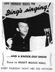 Bing sings on Kraft Music Hall