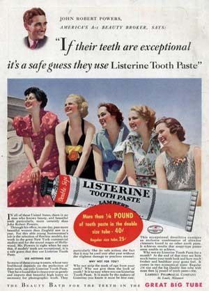 Listerine Tooth Paste, sponsor of Abe Burrows Old Time Radio Show