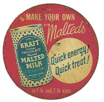 Old time radio sponsor, Malted Milk