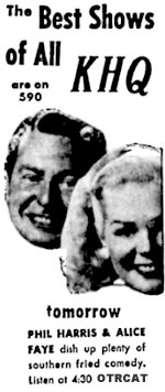 Phil Harris Alice Faye Ad