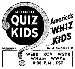 Quiz Kids advertisement