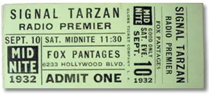 Tarzan Radio Premier Ticket