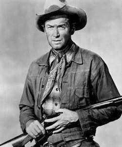 Jimmy Stewart and rifle.