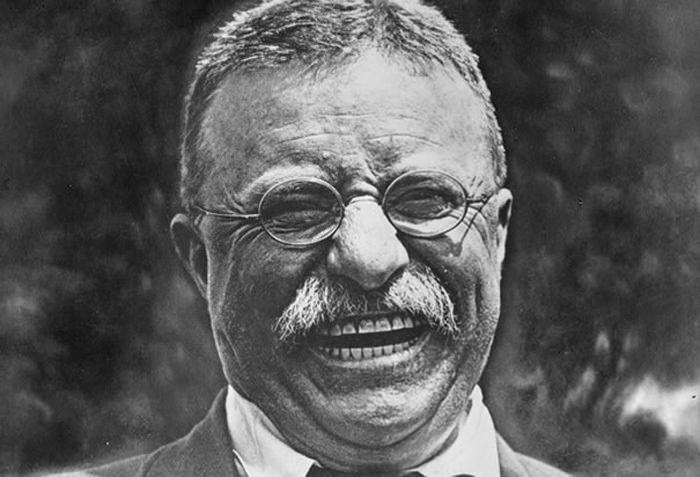 Theodor Roosevelt Laughing
