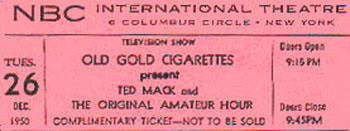 Ticket Old Gold Cigarettes