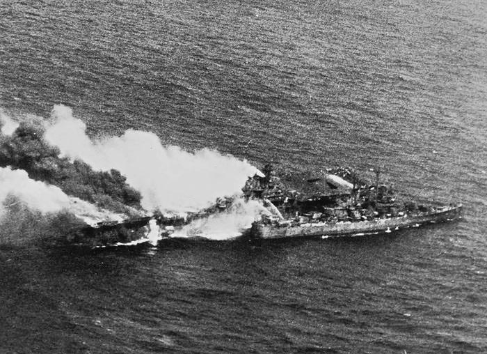 USS Franklin 1945 Hit