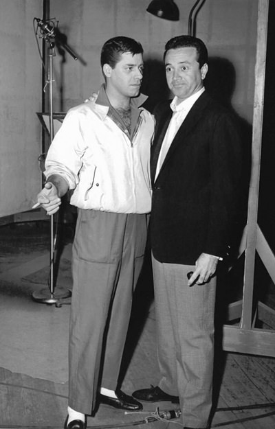 Vic Damone and Jerry Lewis