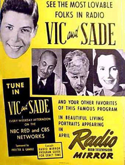 Vic and Sade advertisement in Radio Mirror