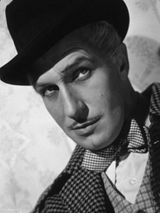 Vincent Price in top hat and bowtie