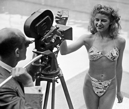 Micheline Bernardini first bikini in 1946