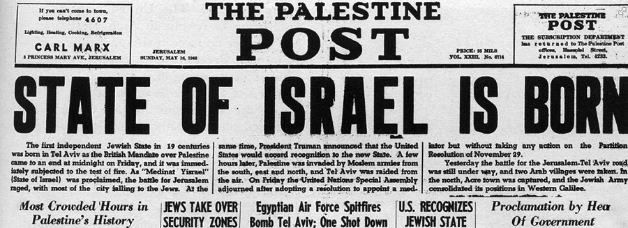 Israel Formed 1948
