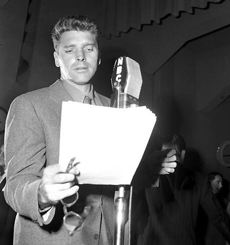Burt Lancaster radio broadcast