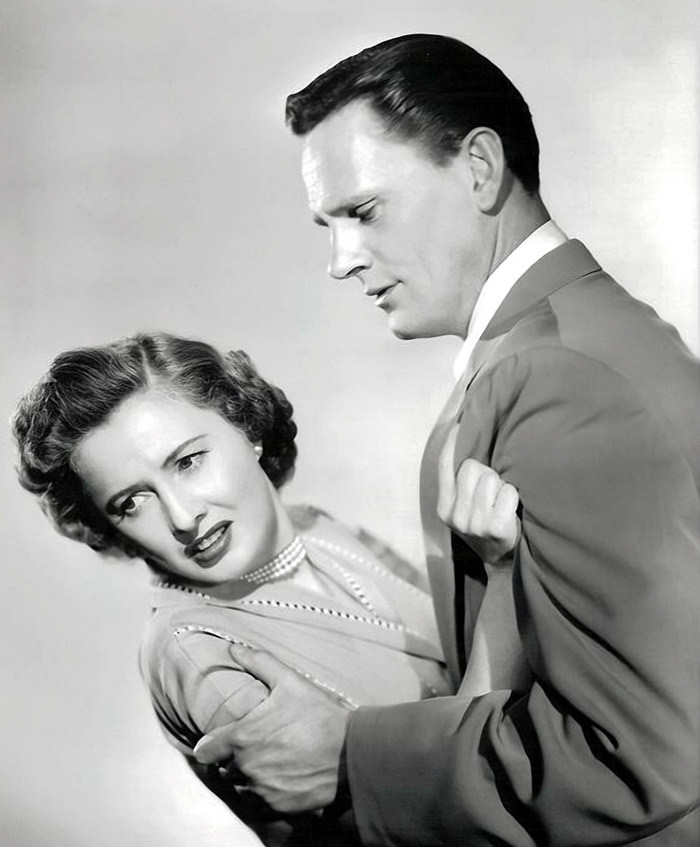 Wenell Corey and Barbara Stanwyck