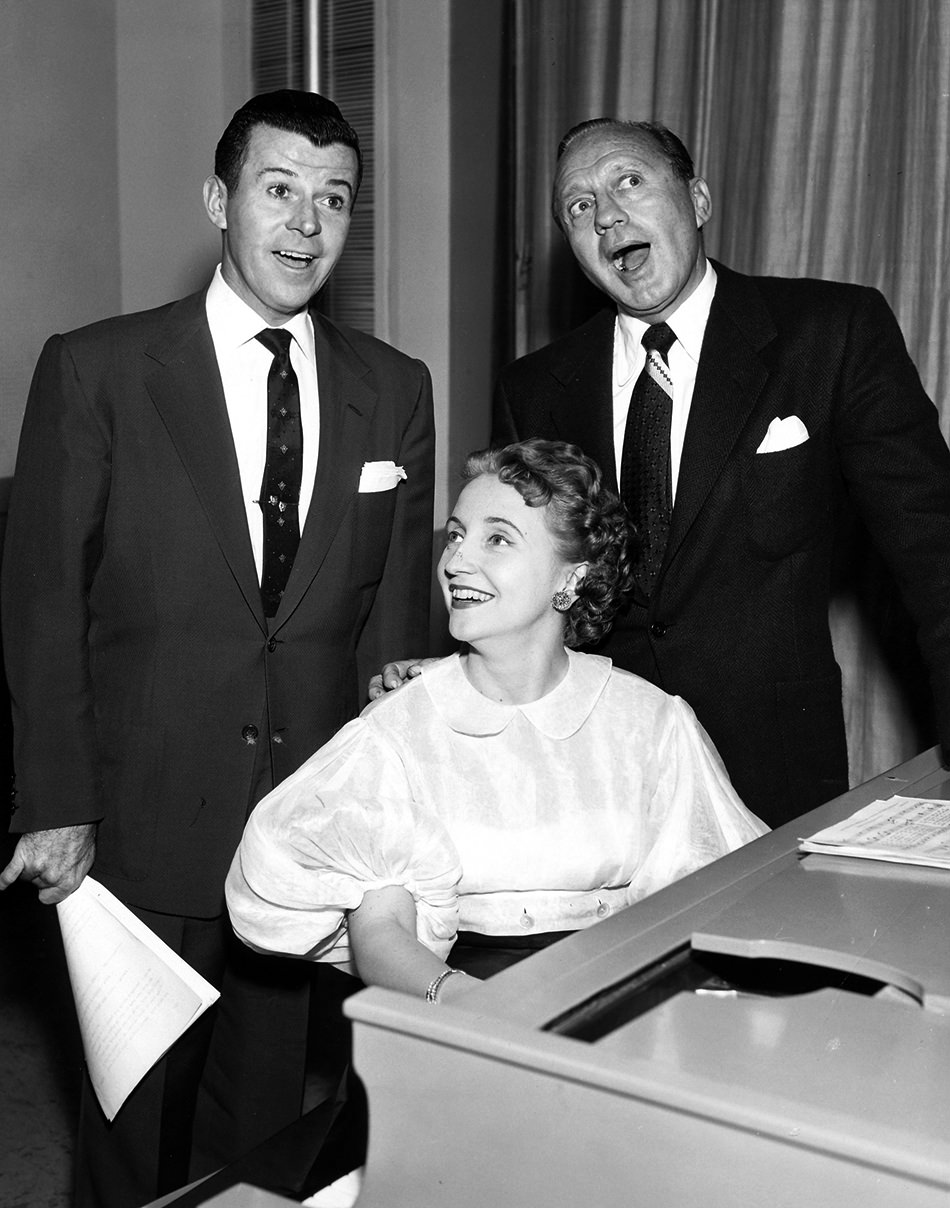 Dennis Day Jack Benny and  Margaret Benny