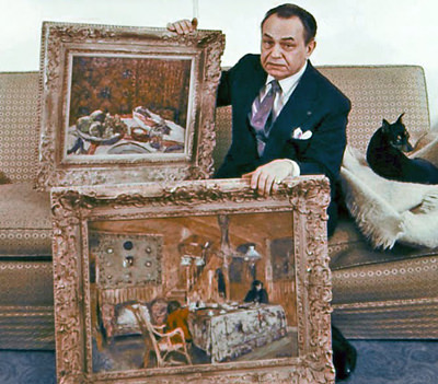 Edward G Robinson with Art