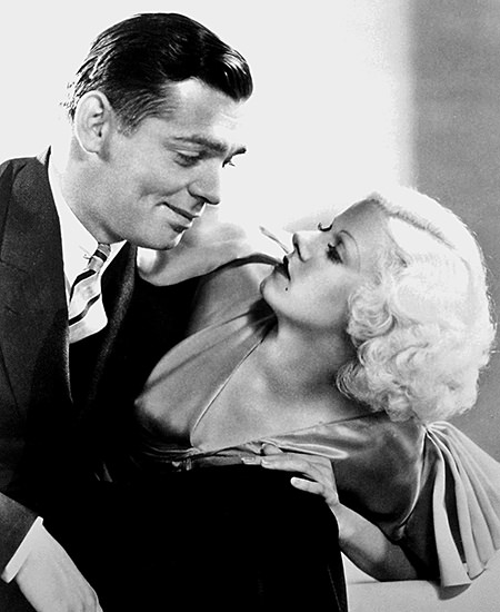Clark Gable and Jean Harlowe