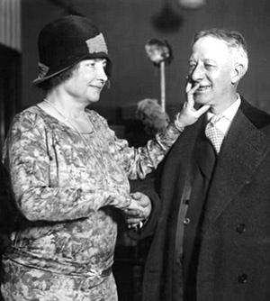 Helen Keller and Al Smith 1929