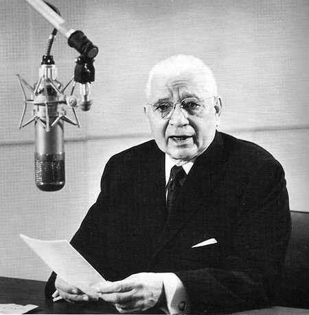 Herbert W Amstrong on radio