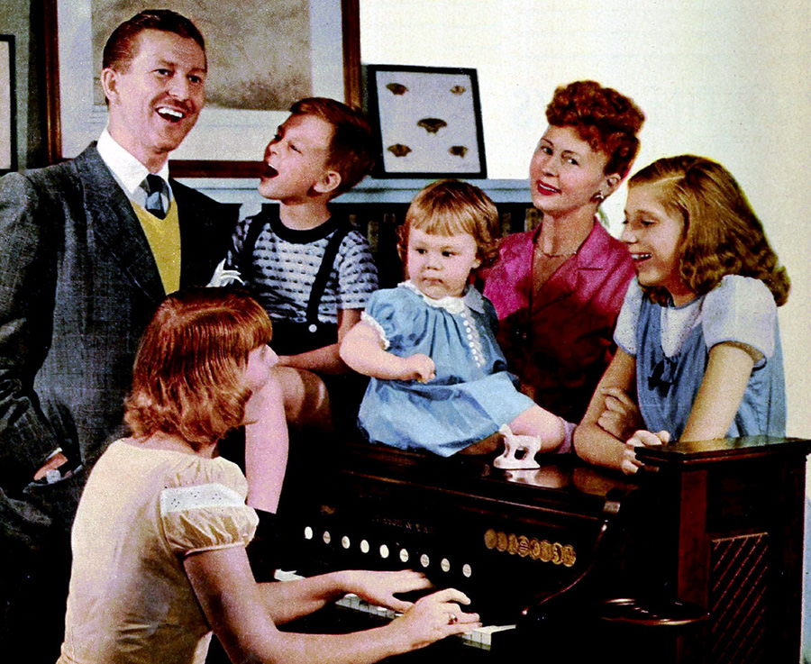 Jack Berch and family 1949