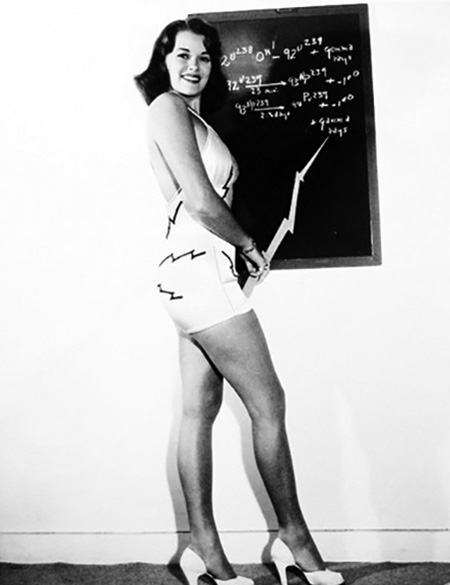 Janis Paige, Miss Atomic Energy